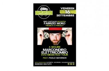 Live Roma: Marcondiro al Contestaccio il 16 Settembre