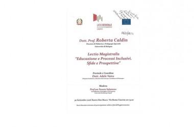 """Venerdì lectio magistralis di Roberta Caldin  """"Educazione e processi inclusivi. Sfide e prospettive"""""""