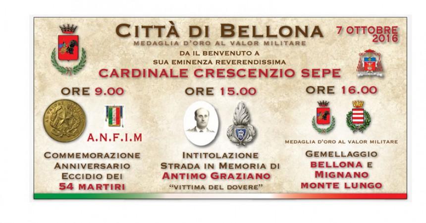 Bellona: Tre importanti cerimonie: Anniversario Eccidio, Intitolazione Strada e Gemellaggio