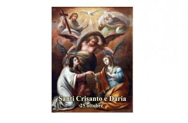 IL SANTO di oggi 25 Ottobre – Santi Crisante e Daria