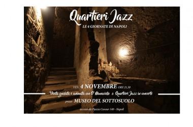Quartieri Jazz in concerto al Museo del Sottosuolo Venerdì 4 Novembre ore 21.30