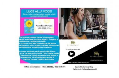 'Luce alla voce', apprezzato stage della logopedista Annalisa Peruzzi a Vairano Patenora