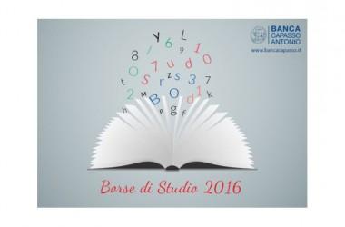 In scadenza le domande per le borse di studio anno scolastico 2015-2016, messe in palio dalla Banca 'Antonio Capasso'