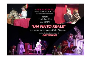 """Primo fine settimana di novembre al Museo del Sottosuolo con la visita guidata dal munaciello e lo spettacolo   """"Un finto reale"""" di Jury Monaco"""