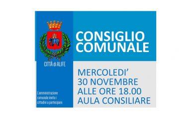 Consiglio Comunale fissato per domani 30 novembre. Variazione in bilancio per il ripristino dei depuratori