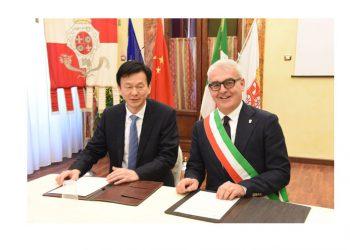Macerata e Taicang, un rapporto solido e progetti futuri. La visita del sindaco della città cinese e la firma del protocollo d'intesa.