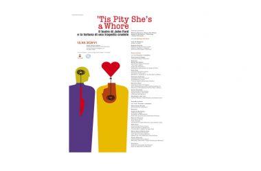 'Tis Pity She's a Whore. Il teatro di John Ford e la fortuna di una tragedia crudele- convegno internazionale 15 dicembre