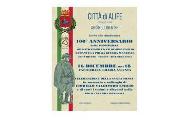 Alife ricorda il soldato Valdimiro Emilio Fiorillo e tutti i caduti e dispersi nella Prima Guerra Mondiale