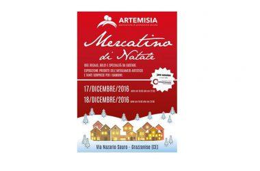 """Sabato 17 e Domenica 18 Dicembre 2016, a Grazzanise, torna il """"MERCATINO di NATALE"""" organizzato da ARTEMISIA APS."""