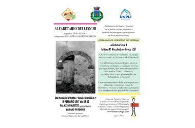 Alfabetario 1 – Lettera R – Rocchetta e Croce, il 16 febbraio la presentazione a Vairano Patenora