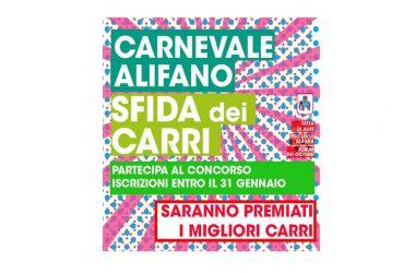 """Alife si prepara al Carnevale con la """"Sfida dei Carri"""", c'è tempo fino al 31 gennaio per partecipare al concorso"""