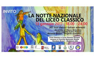 Programma Notte nazionale del liceo classico –13 Gennaio 2017
