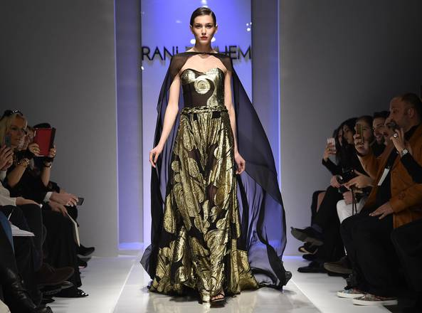 A model presents a creation from the Spring/Summer 2016 collection by Lebanese-born designer Rani Zakhem during the AltaRoma, in Rome, Italy, 31 January 2016. The fashion event runs from 29 to 31 January. ANSA/GIORGIO ONORATI
