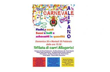Carnevale Alifano: tutto pronto, ecco i dettagli
