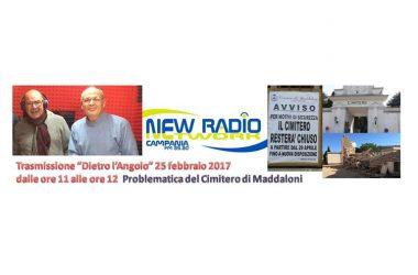 Maddaloni, a Dietro l'Angolo la problematica del Cimitero di Maddaloni il 4 marzo