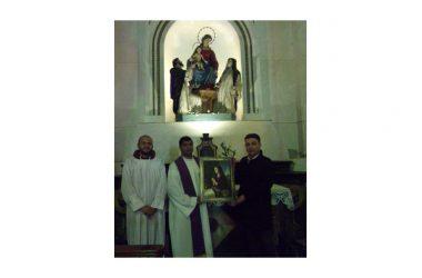 Alessandria d'Egitto : Donato quadro raffigurante la  Beata Maria Cristina di Savoia.