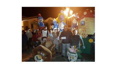 """Carnevale Alifano, trionfa l'evento e vince il carro ispirato a """"Madagascar"""""""