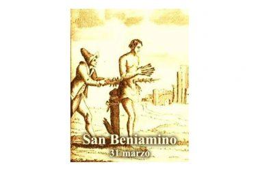 IL SANTO di oggi 31 Marzo – San Beniamino
