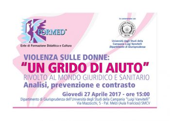 """Violenza sulle donne, a Santa Maria Capua Vetere il Convegno organizzato dal FORMED e dall'Università della Campania """"L. Vanvitelli"""""""