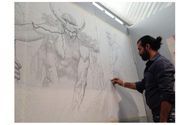 """Napoli Comicon 2017: """"Jeshua, un Messia"""" di Marco Chiuchiarelli presentato con una performance pittorica"""