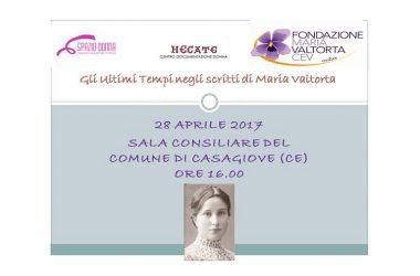 Maria Valtorta e i suoi scritti arrivano a Casagiove.