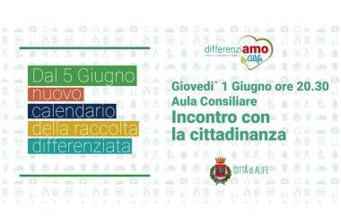 Alife, nuova raccolta differenziata: il sindaco Cirioli e l'assessore Di Caprio incontrano i cittadini