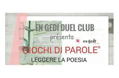 All'En Gedi Duel Club 'Giochi di parole – Leggere la poesia'