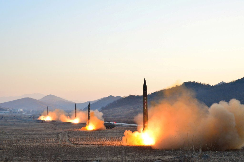 FILE PHOTO: North Korean leader Kim Jong Un supervised a ballistic rocket launching drill of Hwasong artillery units of the Strategic Force of the KPA on the spot in this undated photo released by North Korea's Korean Central News Agency (KCNA) in Pyongyang March 7, 2017.