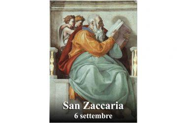 IL SANTO di oggi 6 Settembre – San Zaccaria