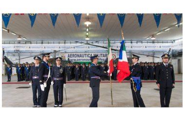 Aeronautica militare, 9° Stormo di Grazzanise, in data 19 Ottobre 2017, cerimonia del cambio del Drappo della Bandiera di Guerra