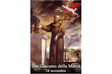 IL SANTO di oggi 28 Novembre – San Giacomo della Marca