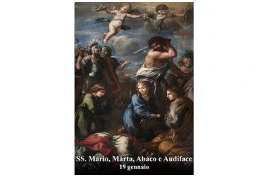 I SANTI di oggi 19 Gennaio – Santi Mario, Marta, Abaco e Audiface