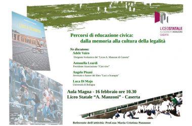 Percorsi di educazione civica. Al Manzoni gli alunni incontreranno Angelo Pisani e Antonella Leardi, madre di Ciro Esposito