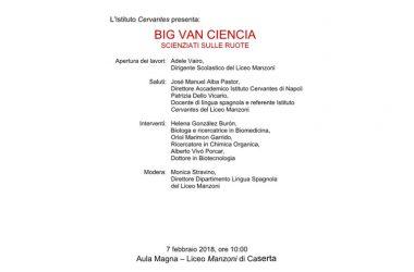 Domani al Manzoni i Big van ciencia: scienziati sulle ruote
