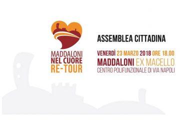RIPRENDE IL TOUR DI MADDALONI NEL CUORE. DE FILIPPO ALL'EX MACELLO PER LA PRIMA ASSEMBLEA CITTADINA.