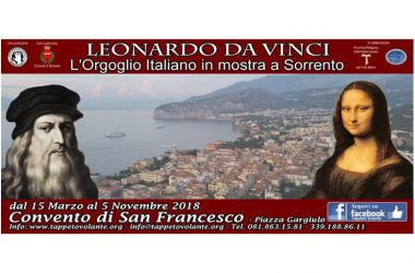 A Sorrento dal 15 marzo, la Mostra Leonardo Da Vinci, il Genio del Bene