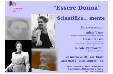 ESSERE DONNA…..SCIENTIFICA….MENTE