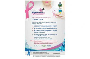 Angela Serra Onlus, l'11 marzo a San Potito Sannitico l'appuntamento con la prevenzione