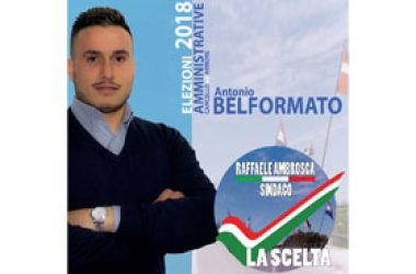 ANTONIO BELFORMATO candidato con LA SCELTA.