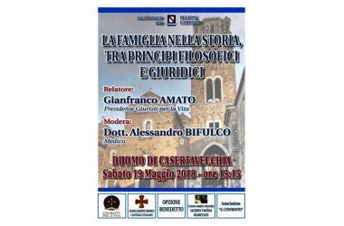 Sabato 19 maggio Gianfranco Amato a Casertavecchia per parlare delle radici antropologiche dell'uomo e della famiglia.