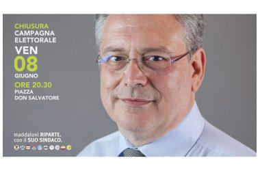 De Filippo: Venerdì 8 giugno, alle ore 20:30, chiuderemo la campagna elettorale in piazza Don Salvatore D'Angelo.