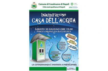 Sabato 30 giugno si aprono i rubinetti della casa dell'acqua.