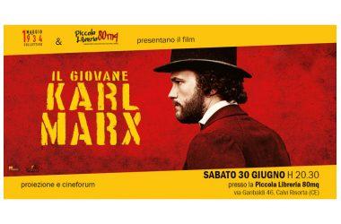 """CAMBIO SEDE: La proiezione del film """"Il giovane Karl Marx"""" si sposta nella Piccola Libreria 80mq a Calvi Risorta"""