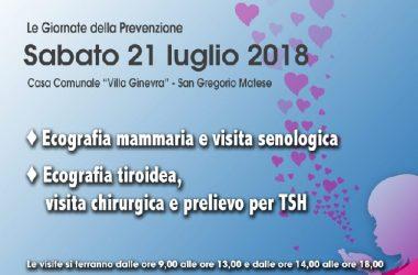 Angela Serra Onlus Caserta/Benevento, prossimo appuntamento con la prevenzione a San Gregorio Matese