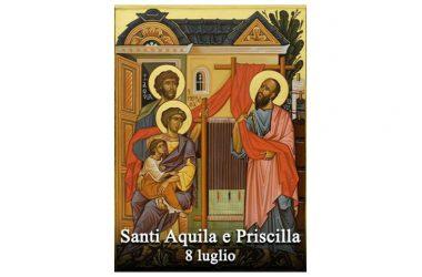 I SANTI di oggi 8 Luglio – Santi Aquila e Priscilla