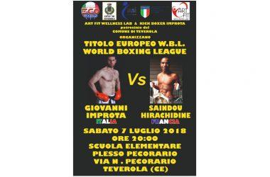 Giovanni Improta combatte per il titolo europeo World Boxing League