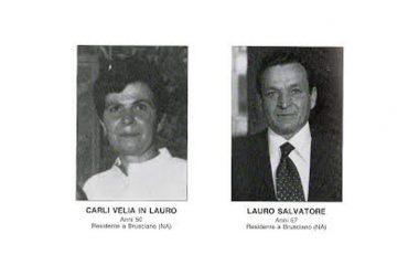 Bologna 2 agosto 1980-2018 nel 38° Anniversario della Strage alla Stazione Centrale. Fra le 85 vittime due cittadini di Brusciano i coniugi Salvatore Lauro e Velia Carli.