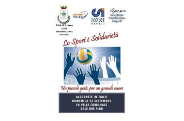 """Sport e solidarietà con """"E…State Arzano"""", domenica 23 ottobre la raccolta fondi"""