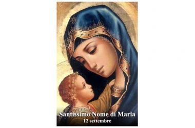 Oggi 12 Settembre si festeggia il SANTISSIMO NOME DI MARIA