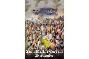 I SANTI di oggi 20 Settembre – Santi Martiri Coreani